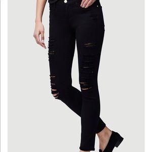 Frame Denim black holes skinny jeans